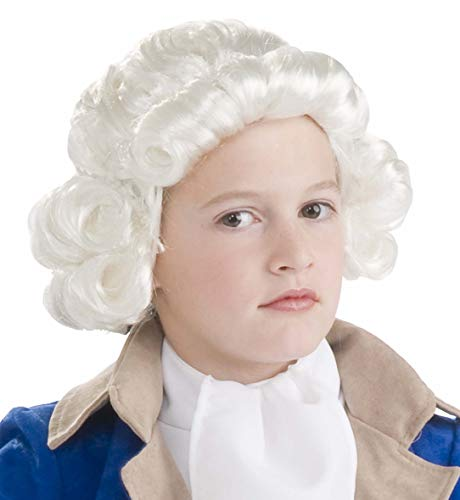 Forum Novelties Colonial Boy Child Wig, White -