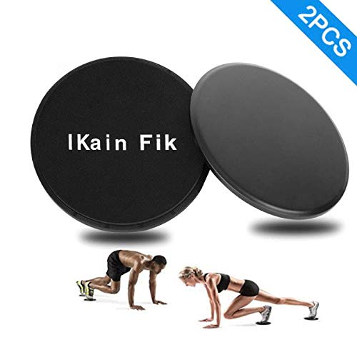 IKain Fik 2 PCS Exercise Sliders, Dual Sided Core Sliders, Gym, Home Abdominal & Total Body Workout Equipment for use on All Surfaces