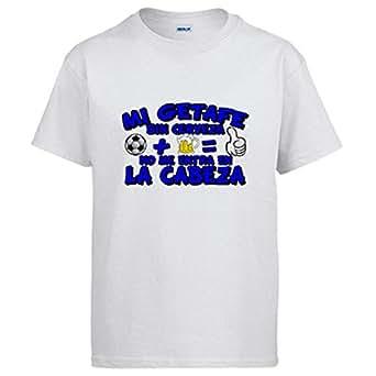 Camiseta Mi Getafe sin Cerveza no me entra en la Cabeza - Blanco, 3-4 años