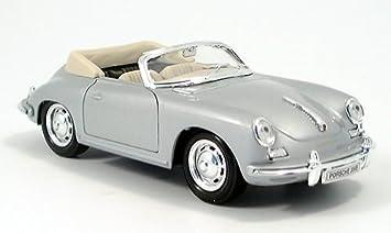 Porsche 356B Cabrio Silber Offen 1959-1963 1//24 Welly Modell Auto mit oder ohn..