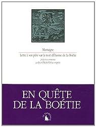 Lettre à son père sur la mort d'Étienne de La Boétie