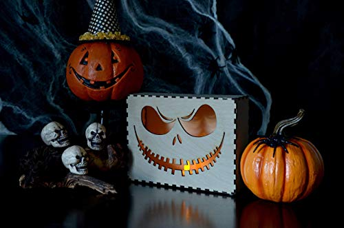 Jack O Lantern, Halloween Wooden Lamp, Halloween Decor, Laser Cut Pumpkin, Halloween Decorations, Laser Cut Lamp -