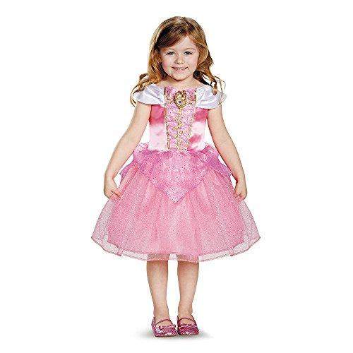 [Disguise 82908M Aurora Toddler Classic Costume, Medium (3T-4T)] (Toddler And Girls Aurora Princess Costumes)