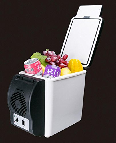 LJQ Car Refrigerator 6L Mini Refrigerator Portable Refrigera