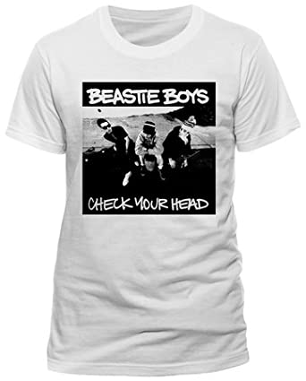 Mens Hip Hop Music T Shirt with Beastie Boys New York City Check Your Head  Graphics Large White  Amazon.co.uk  Clothing 73a71af378a