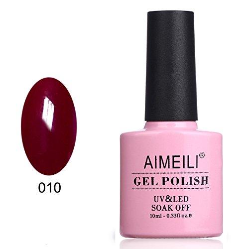 AIMEILI UV LED Gellack ablösbarer Nagellack Gel Polish - Red Vixen (010) 10ml