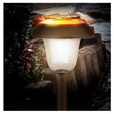 Quanzhou Goldensun Lighting SC2522-A12-H1 Solar Dual LED Lights, Stainless Steel, Bronze Finish, Set of 4 - Quantity 3