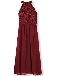 Speechless Big Girls' Glitter Lace to Chiffon High Neck Maxi Dress
