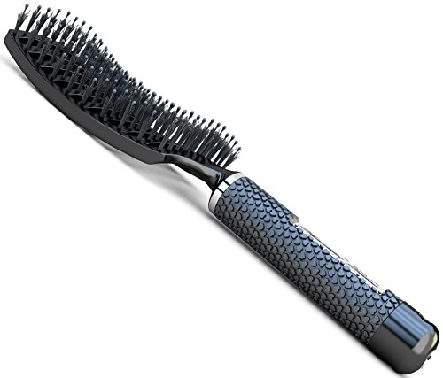 Boar Bristle Brush Best At Detangling Thick Hair Vented For Faster Blow Dryer Drying After Shampoo 100 Professional Natural Boar Bristles Promotes Healthy Oil Distribution