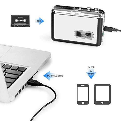 Protable Personal Walkman Cassette Player - DigitalLife USB Cassette to MP3 Recorder Converter [PC/Laptop] - Audio Tape Player