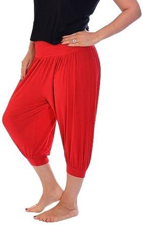 Nouvelle Tallas Grandes Mujer Pantalones Pirata Ali Babarojo Talla 52 54 Color Rojo Amazon Es Ropa Y Accesorios