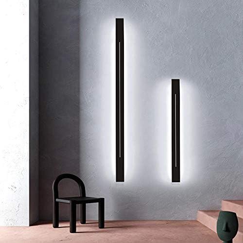 Modern Minimalist Long Wall Lamp Nordic Led Wall Light Decor Living Room Bedroom Bedside Lamp Indoor Art Home Lighting Luminaire Dia 80 cm Warm Light Black