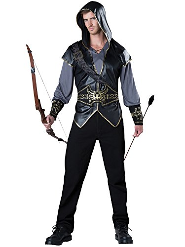 Ultimate Warrior Fancy Dress Costumes - UHC Men's Hooded Huntsman Outfit Warrior Medieval Theme Halloween Fancy Costume, L (42-44)