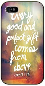 Every good and perfect gift comes its from above - James 1:17 Southeast - Bible verse iPhone 5 / 5s black animals plastic case the / Christian Verses &hong hong customize