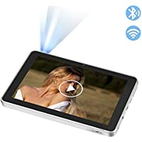 YKS 8'' Bluetooth Tablet Projector,Portable Smart Projector-Dual Capabilities,Google Android 4.4.2 System,3D Gallery for Home Cinema(RK3188 Quad-core, 2GB RAM, 32GB Built-in Storage)