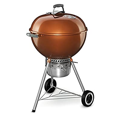 Weber 14402001 Original Kettle Premium Charcoal Grill, 22-Inch, Copper