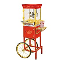 Nostalgia CCP510 Old Fashioned Movie Time Popcorn Cart-Professional, Red