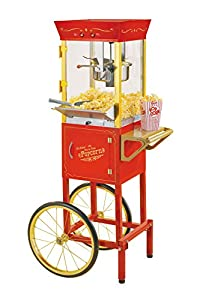 Nostalgia CCP510 Vintage 6-Ounce Commercial Popcorn Cart – 53 Inches Tall, Love this popcorn maker
