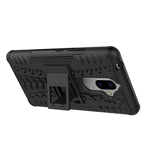 CarcasaLenovo K8 Note, LifeePro Funda de la Caja del Teléfono a Prueba de Golpes TPU + PC Armadura Combinada híbrida Caso de Alto Impacto Durable Phone Defender (Rojo) Negro