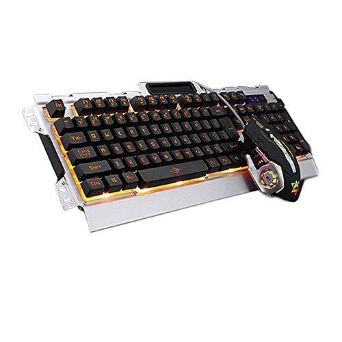 Illuminated Gaming Keyboard, Proslife USB Wired Keyboard, 104-Key Anti-Ghosting Game Keyboard with Backlight
