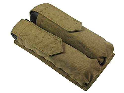 MOLLE Tactical Pouch for Two Tubes at 140-160 Balls (Coyote Brown)