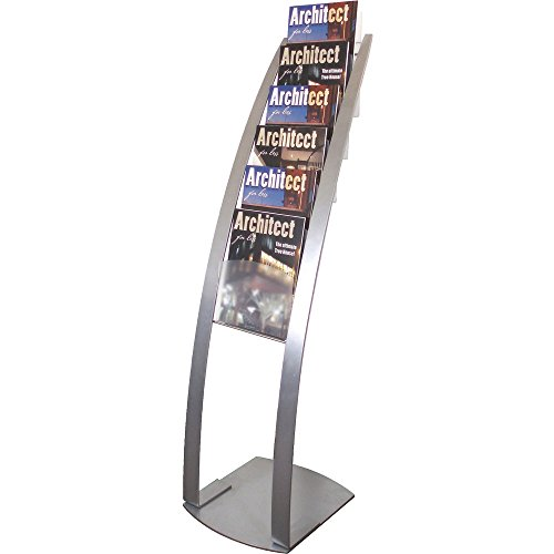 Deflect-O Floor Stand with 6 Compartments, 13 by 16-1/2 by 49-Inch, Silver ()