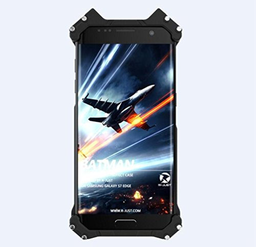 Personalized Fashion Batman Phone Protect Shell Shockproof Anti-drop Aluminum Metal Military Grade Drop Tested Bumper Cool Design Back Cover for Samsung Galaxy S7 Edge at Gotham City Store