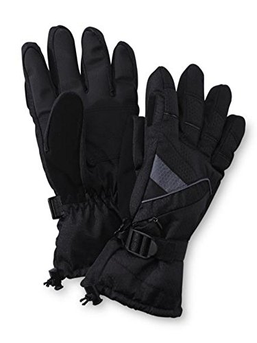 nordic-track-mens-black-thinsulate-winter-snow-ski-gloves-snowboarding-m-l