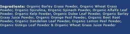 Organic Green Superfood Powder (14 super-foods - Spirulina, Wheatgrass, etc) 1 lb./16 oz (448g.)