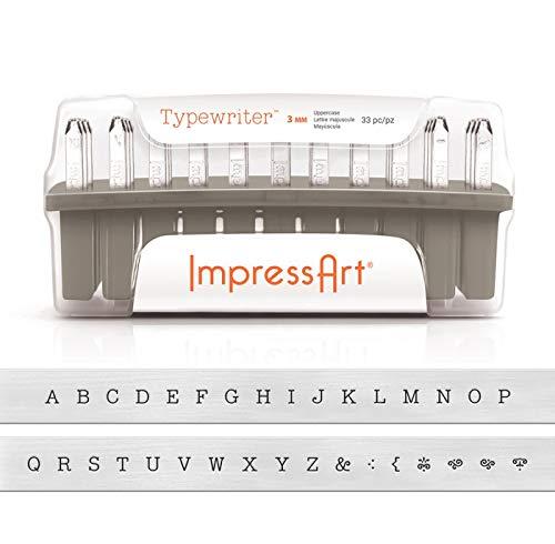 ImpressArt Typewriter Uppercase Letter Metal Stamps Set by ImpressArt (Image #4)