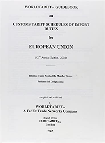 Amazon com: WorldTariff Guidebook on Customs Tariff