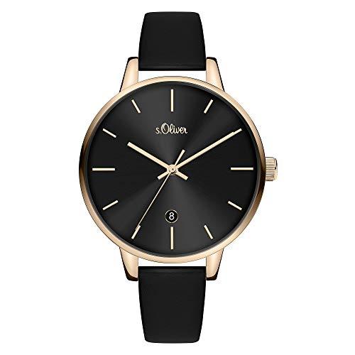 s.Oliver Damen Analog Quarz Uhr mit Armband