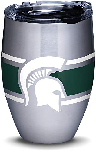 - Tervis 1309979 Michigan State Spartans Stripes Stainless Steel Insulated Tumbler with Clear and Black Hammer Lid 12oz Silver