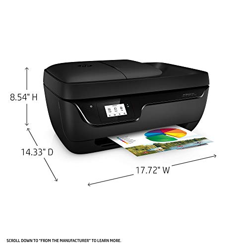 HP OfficeJet 3830 All-in-One Wireless Printer with Mobile Printing, HP Instant Ink & Amazon Dash Replenishment Ready (K7V40A) (Renewed) by HP (Image #2)