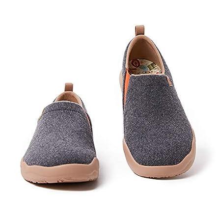 UIN Women's Walking Shoes Slip On Wool Casual...