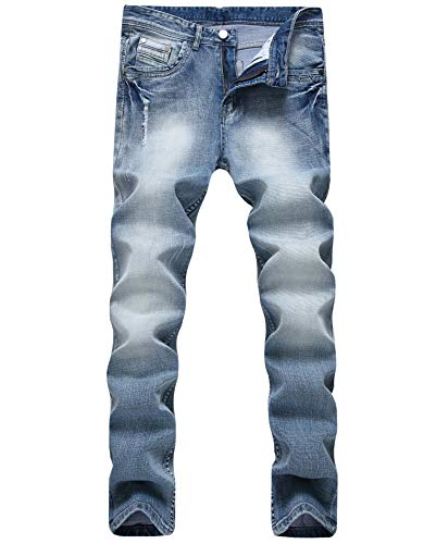 - FREDD MARSHALL Men's Skinny Slim Fit Stretch Straight Leg Fashion Business Denim Jeans Pants 9910