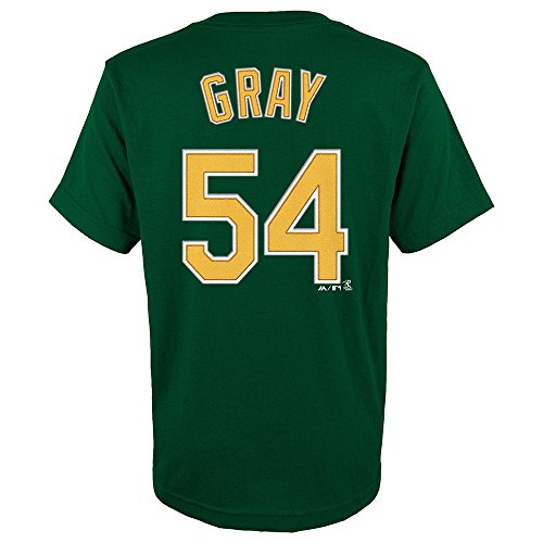 OuterStuff Sonny Gray MLB Majestic Oakland Athletics Player Jersey T-Shirt Youth (S-XL)