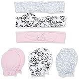 Hudson Baby Baby Cotton Headband and Scratch Mitten