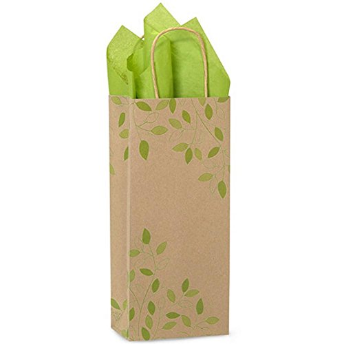 Ivy Lane Paper Shopping Bags - Wine Size - 5 1/2 x 3 1/4 x 13in. - 250 Pack by NW