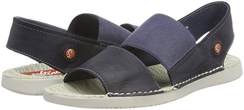 Women''s Sling 000 Sandals Washed Softinos Tai383sof navy Back Blue TFqw4wtdz