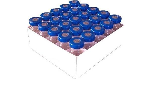 9cd391971072 25 Pack 20ml Serum Clear Glass Vials with Blue Aluminum PTFE Septa Seals  Injection Vials