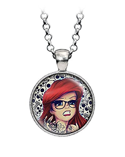 Disney The Little Mermaid Necklace, Princess Ariel Hipster