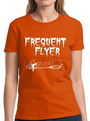 Vizor Women's Halloween Pumpkin Shirt Trick Treat Tshirt Halloween Party Gift Frequent Flyer S