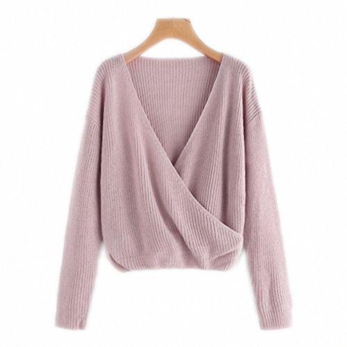 Surplice Wrap Sweater - 3