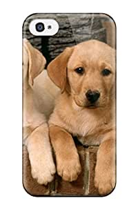 Labrador Retriever Puppies Case Compatible With Iphone 4/4s/ Hot Protection Case by lolosakes