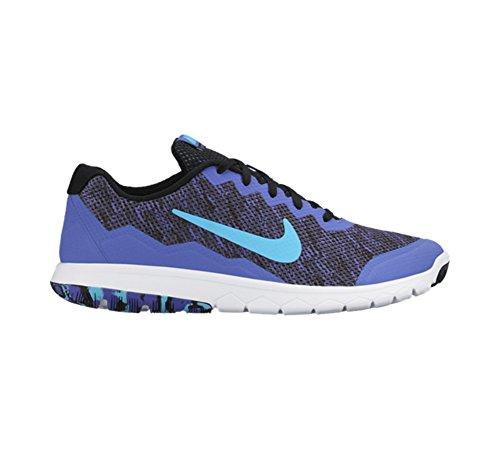 Nike Womens Flex Erfaring Rn 4 Prem Løpesko Svart / Gym Blå / Farsi Fiolett / Hvit