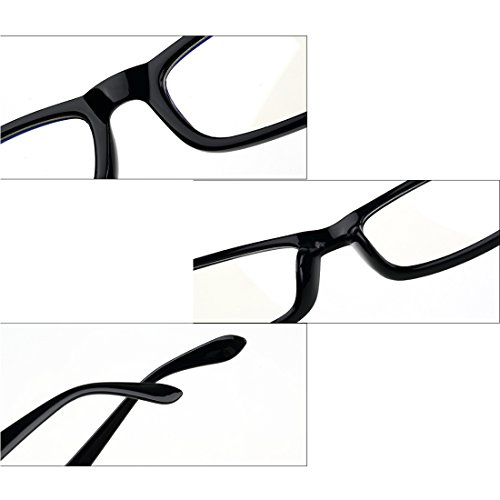 pour la Verres lunettes mode Violet Lentille Rectangle Des la métallique mâle de cadre Plein Femme Noir myopie Vintage Inlefen de À résine cadre tE0q6