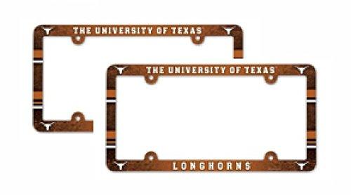 (NCAA University of Texas Longhorns Plastic License Plate Frame 2)