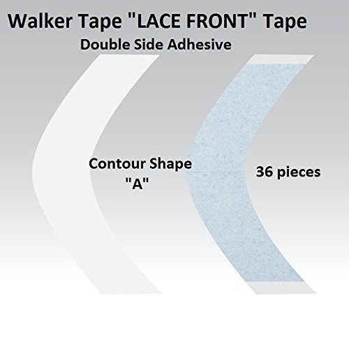 Hair System Tape (2-6 week hold A Contour Lace Front Adhesive Tape 36 Pieces)