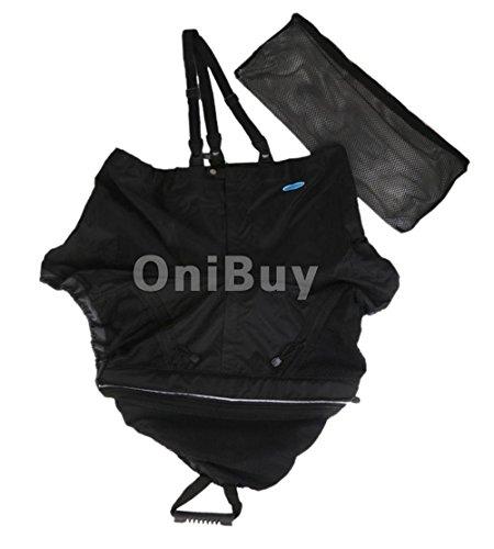 Kayak Accessories Skirt Waterproof Zipper Nylon 96cm Spray Skirt Universal for Kayaking Canoeing by Canoe